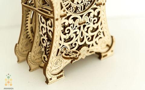 Магические часы Wooden City - Деревянный конструктор, сборная модель, 3D пазл