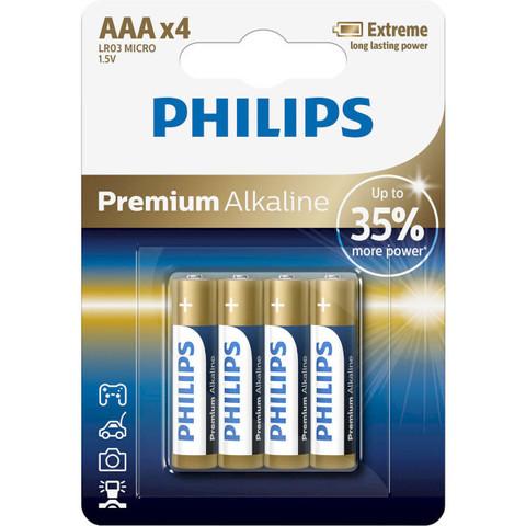 Батарейки Philips Premium Alkaline LR03, AAA (4/48) BL