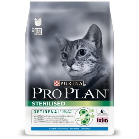 ПРОМО! Pro Plan сухой корм для стерилизованных кошек кролик 2,4+600г