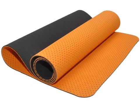 Коврик для йоги и фитнеса: TJD-FO066  (Оранжево-чёрный)