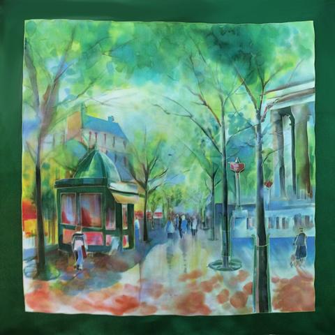 Шёлковый платок Лето в городе С-60