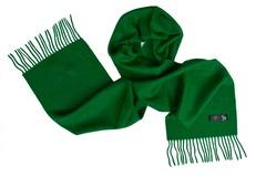 Шерстяной шарф зеленый 00168