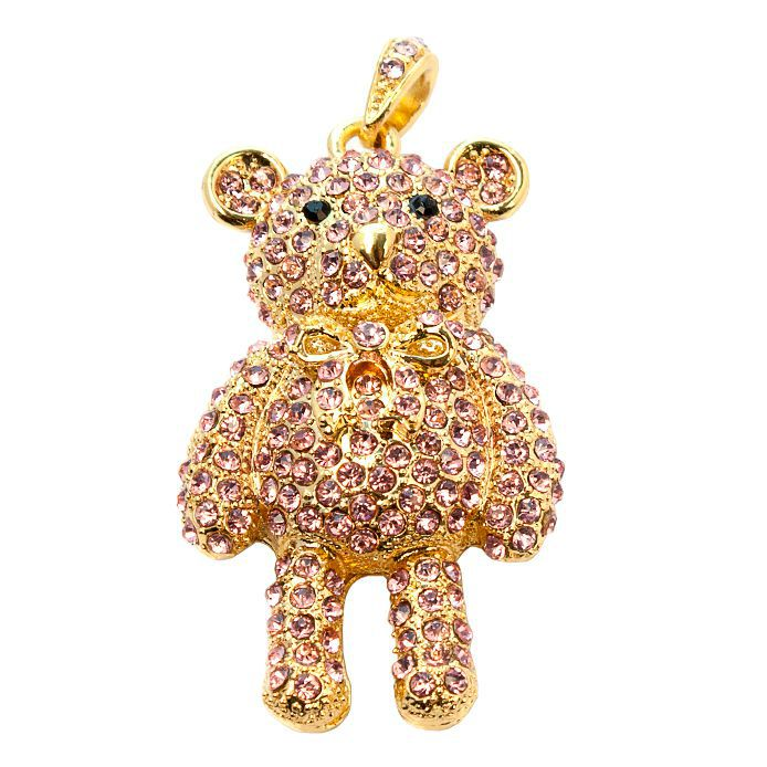 usb-флешка мишка ювелирный золотой
