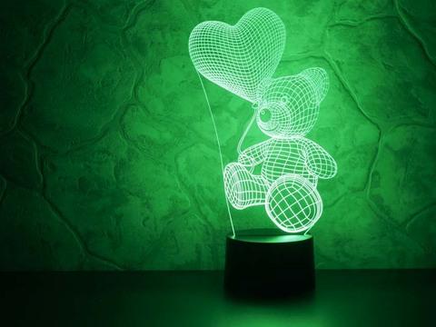 Лампа Абстракция Медвежонок с шариком