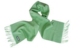 Шерстяной шарф салатовый 00165