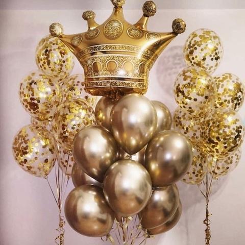 Сет шаров Корона в золоте
