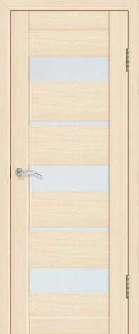 Дверь La Stella 200, стекло матовое, цвет ясень латте, остекленная