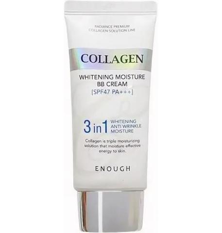 Солнцезащитный крем с морским коллагеном ENOUGH Collagen 3 in1 Whitening Moisture Sun Сream 50 мл
