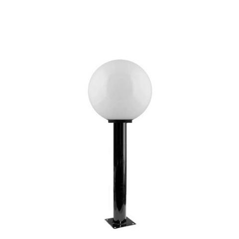 Садово-парковый светильник шар молочный D250mm с металлической опорой H600mm