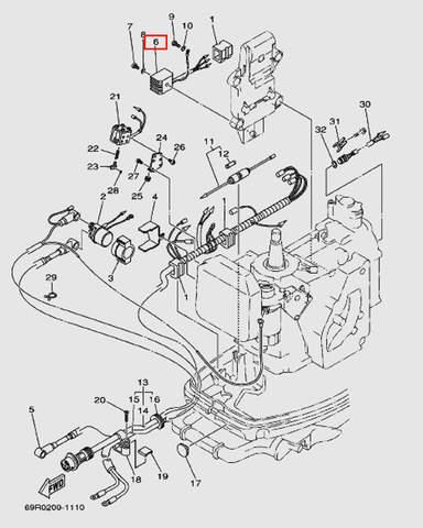 Выпрямитель в сборе для лодочного мотора Т30 Sea-PRO (9-6W)