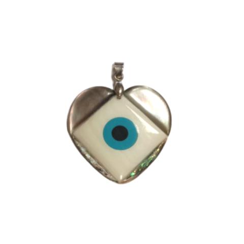Подвеска Сердце с турецким глазом (ракушка)