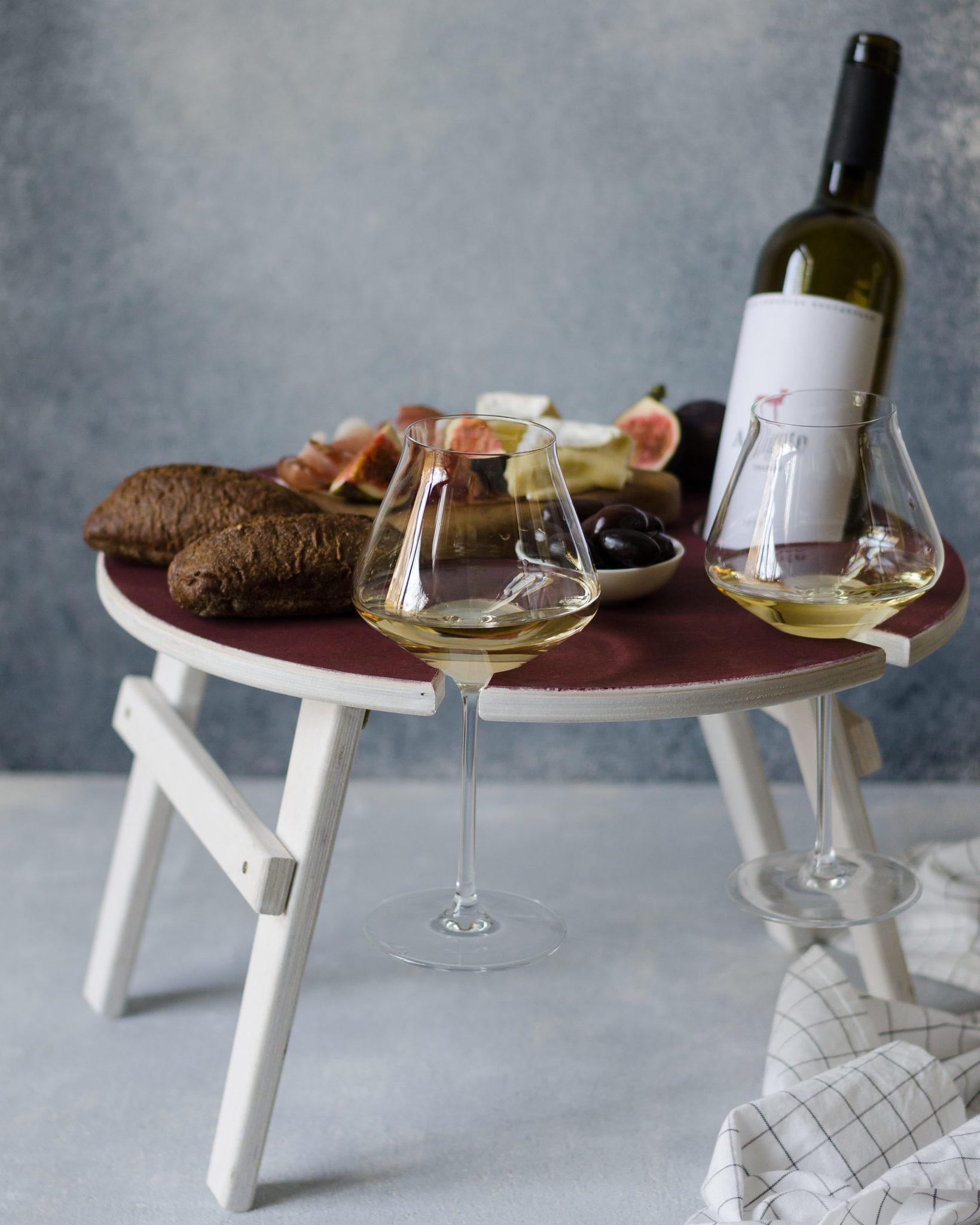 Складной столик для вина, винного оттенка