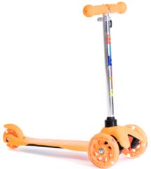 Трехколесный самокат для детей, материал - металл/пластик BIBITU  JAY SKL-06L, оранжевый