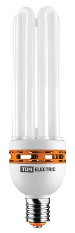 Лампа энергосберегающая КЛЛ-5U-85 Вт-2700 К–Е40 (90х340 мм) TDM