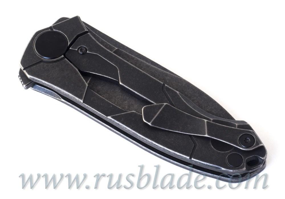 CKF Ratata BLK knife (Konygin, M390, Ti, bearings)