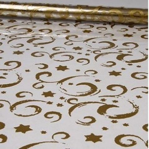 Пленка Звездопад (размер: 70см х 7м) Цвет:золотой