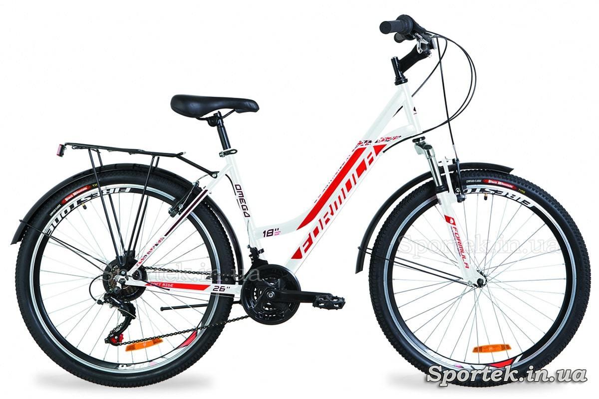 Міський жіночий велосипед Formula Omega - біло-червоний