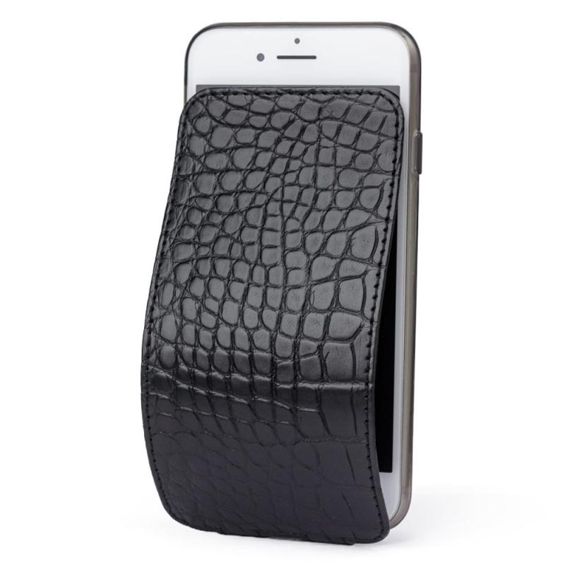 Чехол для iPhone 7 из натуральной кожи аллигатора, черного цвета