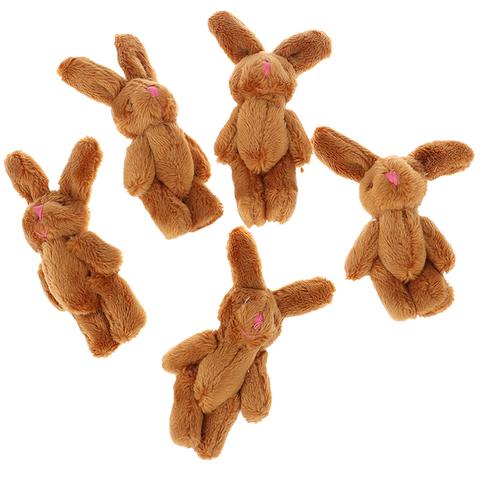 Іграшка для ляльки Let's make Зайчик 6 см коричневий