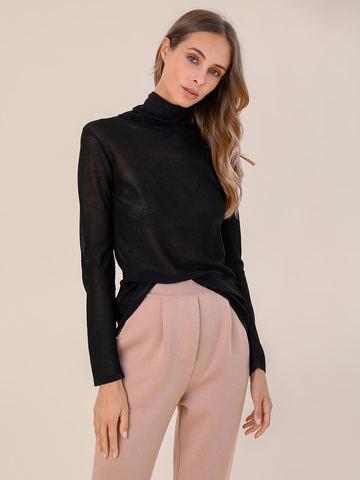 Женский свитер черного цвета из вискозы - фото 2