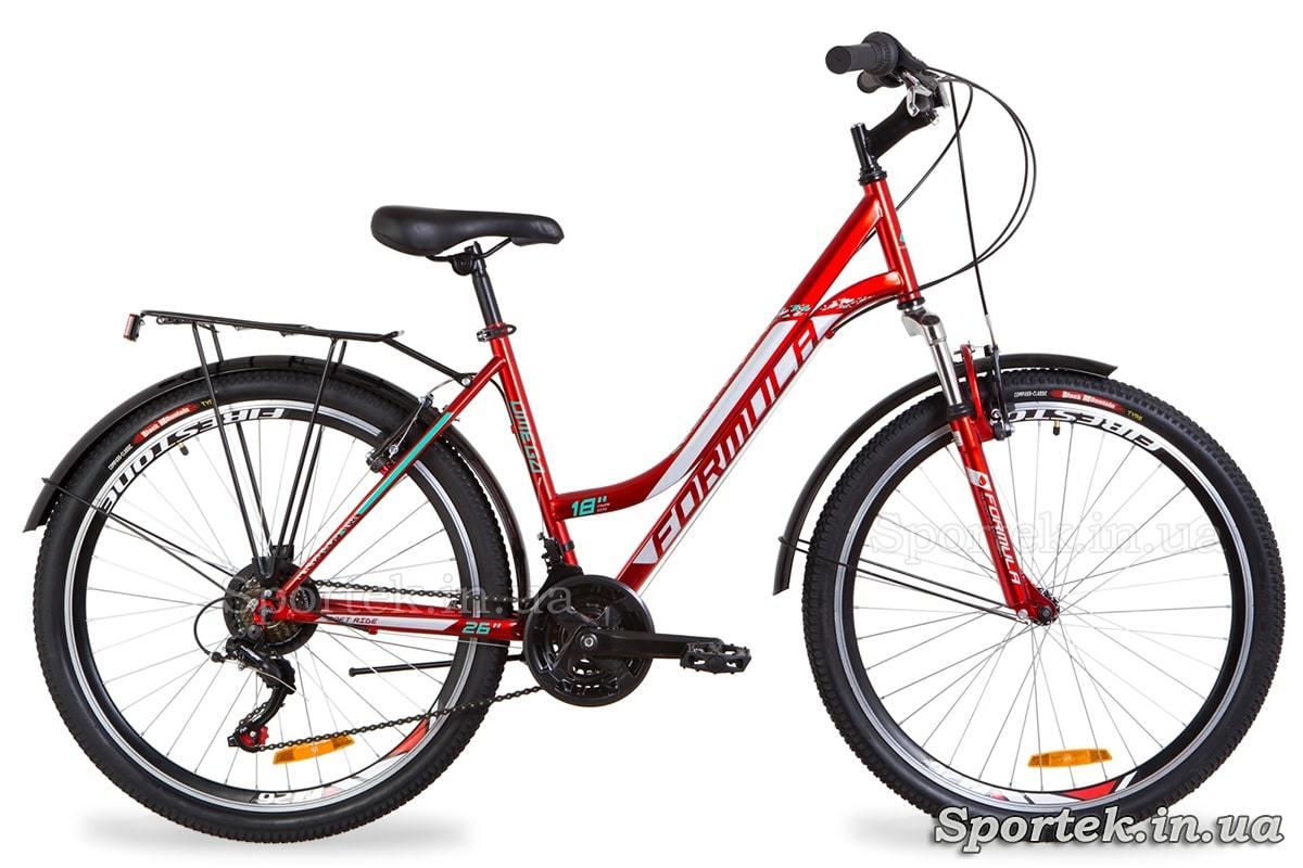 Городской женский велосипед Formula Omega - красно-белый