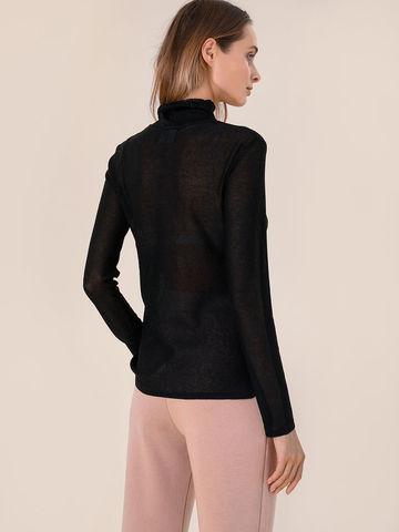 Женский свитер черного цвета из вискозы - фото 4