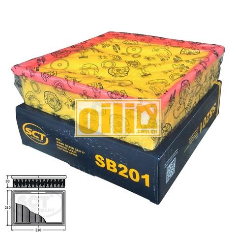 Фильтр воздушный SCT SB201 (ВАЗ 2108-2110, инжектор)