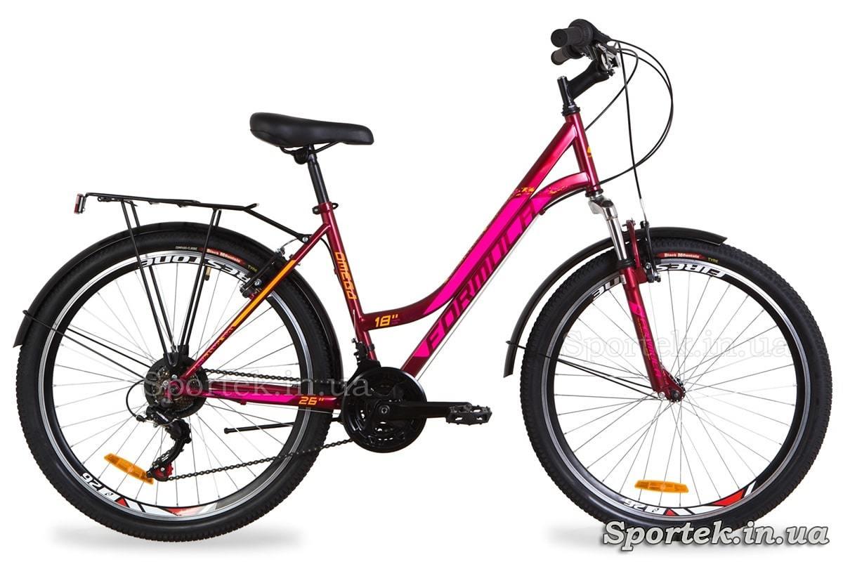 Міський жіночий велосипед Formula Omega - малиновий