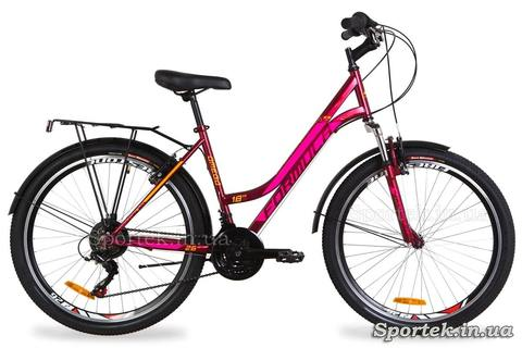 Городской женский велосипед Formula Omega - малиновый
