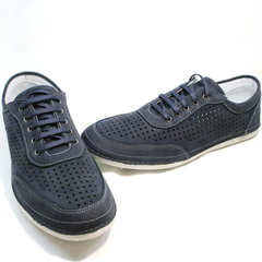Летние кроссовки мужские Vitto Men Shoes 3560 Navy Blue.