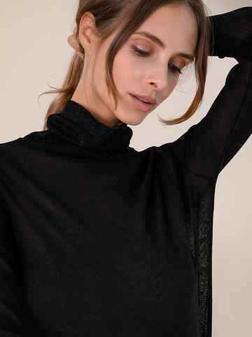 Женский свитер черного цвета из вискозы - фото 3