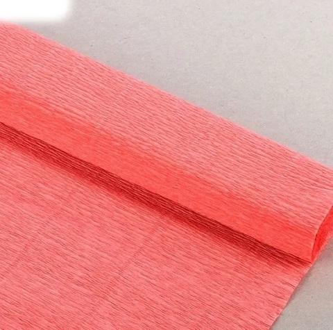 Бумага гофрированная, цвет 901 персиковый, 140г, 50х250 см, Cartotecnica Rossi (Италия)