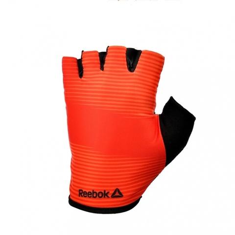 RAGB-11236RD Тренировочные перчатки Reebok (без пальцев) красные р.L