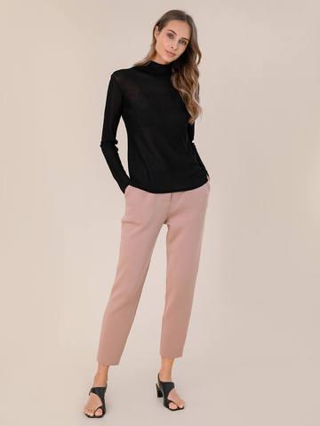 Женский свитер черного цвета из вискозы - фото 5