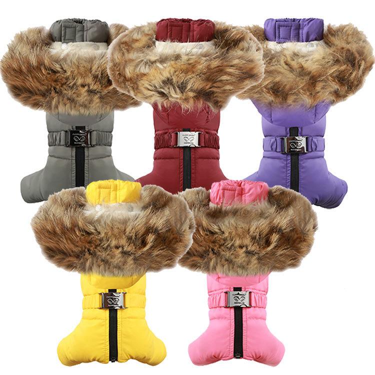 зимние комбинезоны для собак девочек