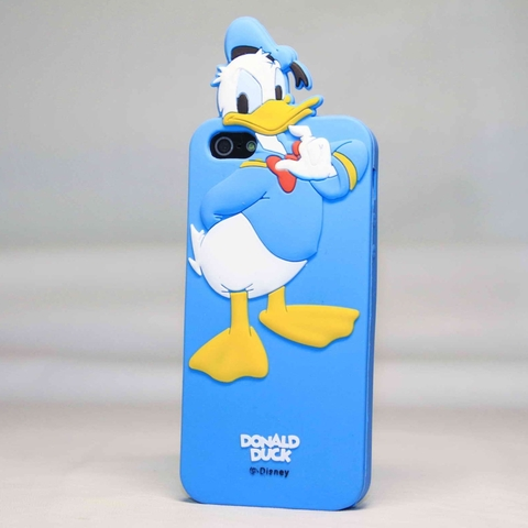 Силиконовый объемный чехол Disney для iРhone 5, 5s, SE (Donald Duck)
