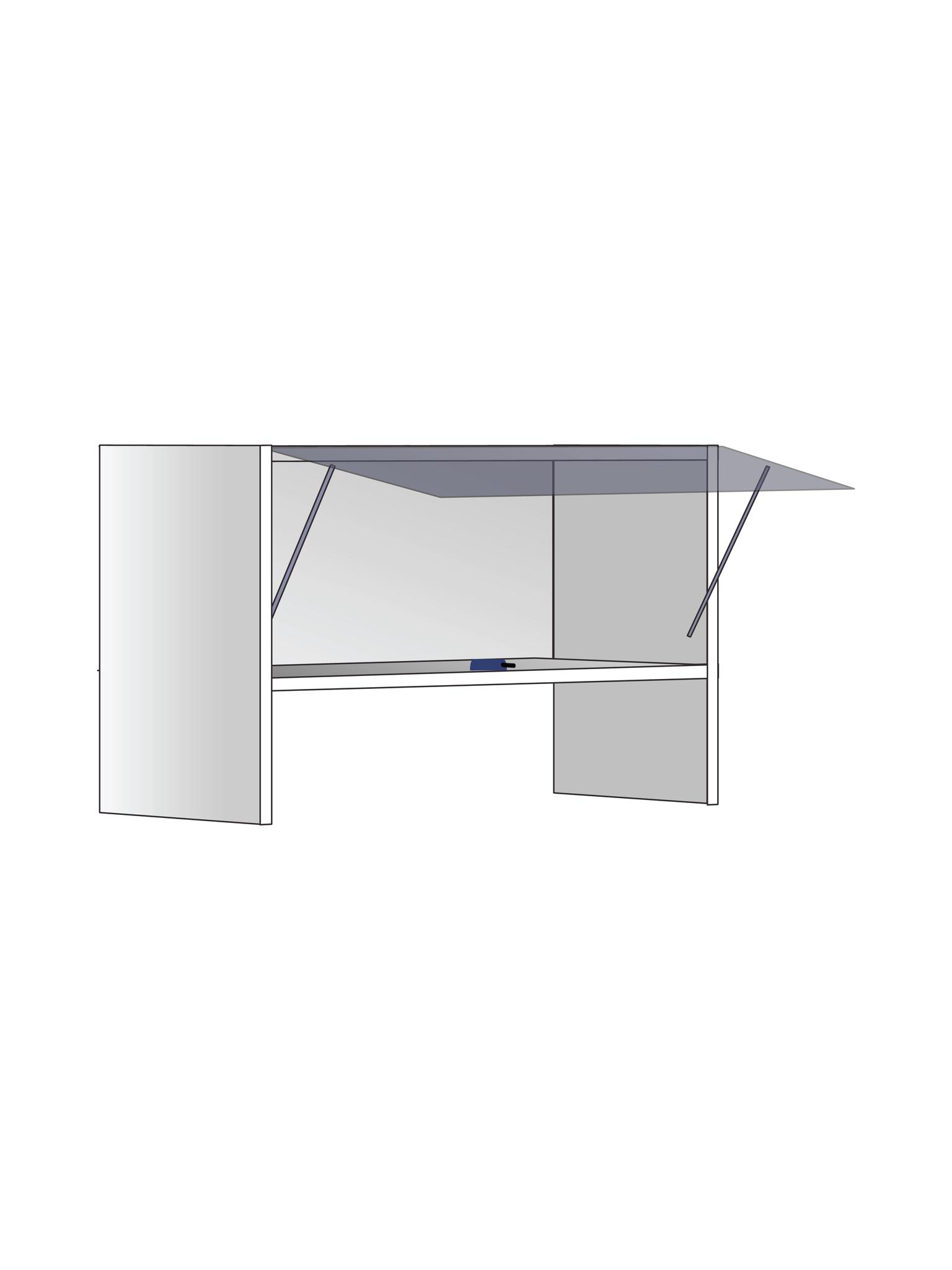 Верхний шкаф для вытяжки , 400Х600 мм / PushToOpen