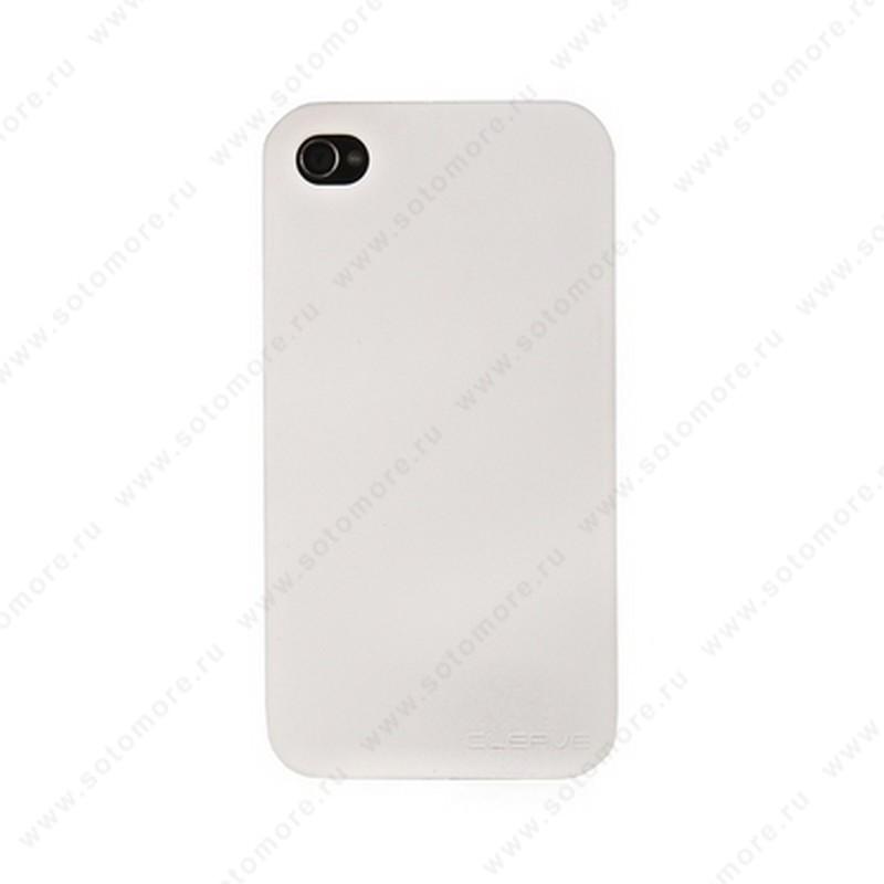 Накладка CLEAVE для iPhone 4s/ 4 матовая белая