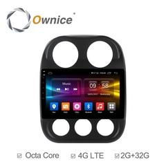 Штатная магнитола на Android 6.0 для Jeep Compass рестайлинг 10+ Ownice C500+ S1252P