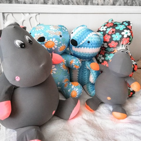 Подушка-игрушка антистресс «Бегемот Няша», коралловый 8