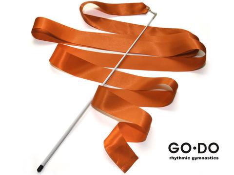 Лента гимнастическая с палочкой. Цвет оранжевая. Длина ленты 6 м. Длина палочки 56 см. :(В4, PD-02):