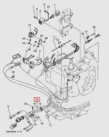 Жгут проводов для лодочного мотора Т30 Sea-PRO (9-13W)