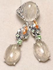 Платея (кольцо + серьги из серебра)