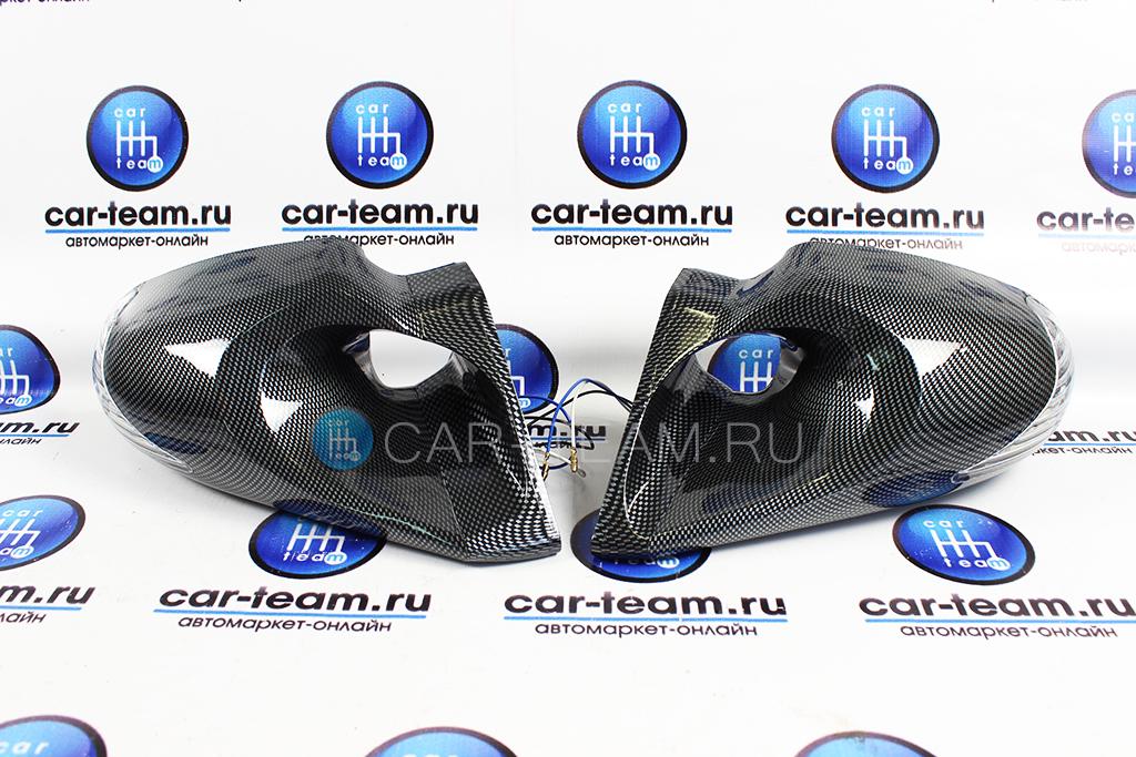 Боковое зеркало ВАЗ 2108 2109 2113 2114 2115 с поворотником карбон