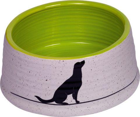 Nobby Luna миска с рисунком керамика салатово-белая 460мл