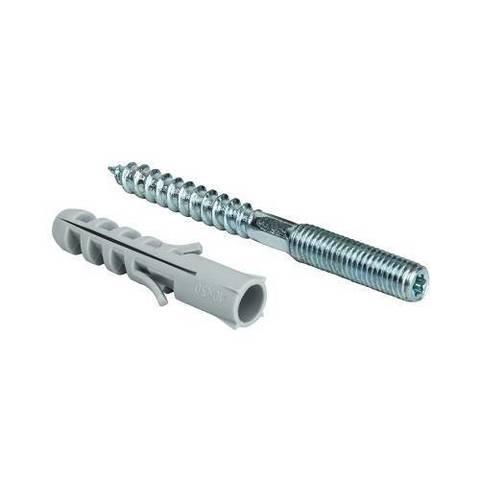 Шпилька для хомута STOUT - М8, длина 80 мм (с дюбилем М10, длина 50 мм)
