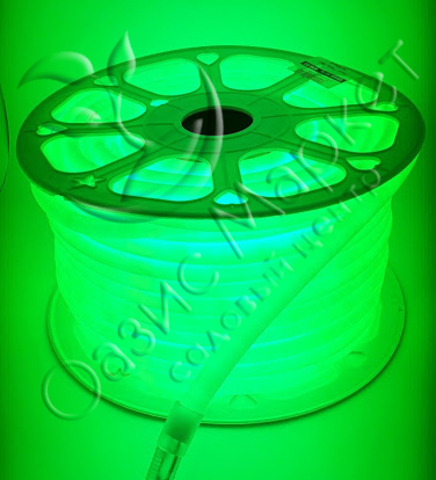Неон 14мм 360 зелёный