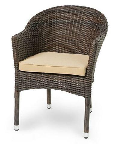 Кресло Варшава, плетеное темно-коричневое