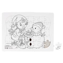 063-2991 Раскраска-пазл, 40 элементов