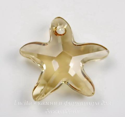 6721 Подвеска Сваровски Морская Звезда Crystal Golden Shadow (16 мм)